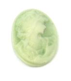 10 קבושונים להדבקה, מדונות ירוקות, 13X18ממ